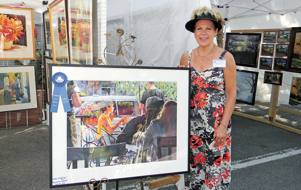 Artist Kathleen Giles has won awards at past Lewiston Art Festival competitions. (File photos)