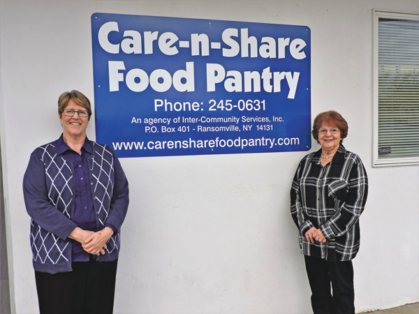 Claudia Fleckenstein and Ellie Murphy of the Care-n-Share Food Pantry.