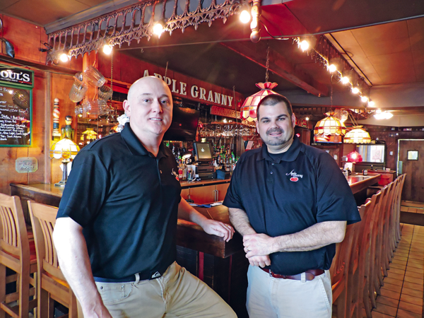 Michael Burke and Chuck Barber, owners of Apple Granny Restaurant. The award-winning restaurant is located at 433 Center St., Lewiston.