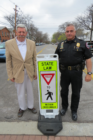 Village of Lewiston Mayor Terry Collesano and Lewiston Police Department Chief Frank Previte remind readers to obey the pedestrian right of way.