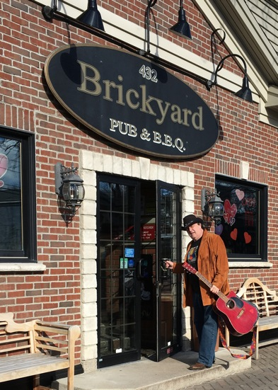 `Toast & Jam` host Dale Campbell outside of The Brickyard.
