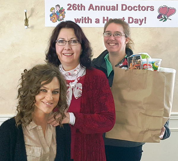 Pictured, from left, are Tina Mahon, Dr. Glenda Rose and Candy Harvey.