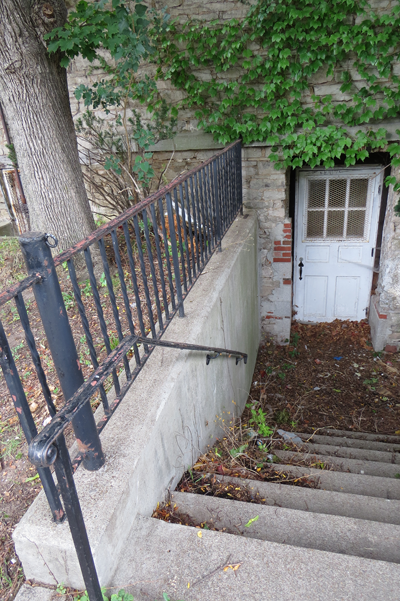 Pictured is the basement access point in question. The HPC expressed concern the subdivision would divide the stairs from the entryway.