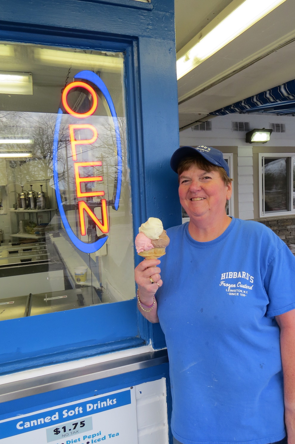 A staple at Hibbard's, Robin Haskell has been serving cones for more than 20 years.