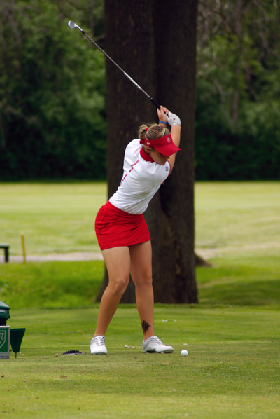 Josee Doyon on the Niagara Falls Country Club course.
