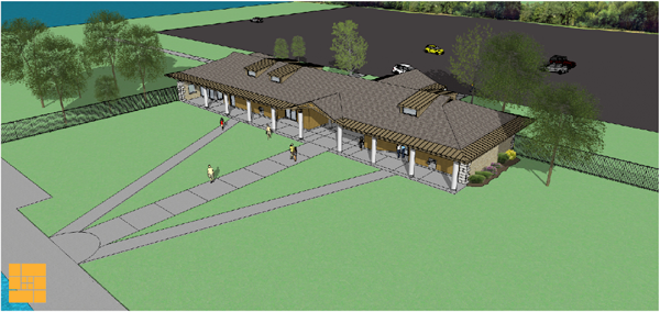 Pictured is an artist rendering of the enhancement project created by HHL Architects and provided by the New York State Office of Parks, Recreation and Historic Preservation.