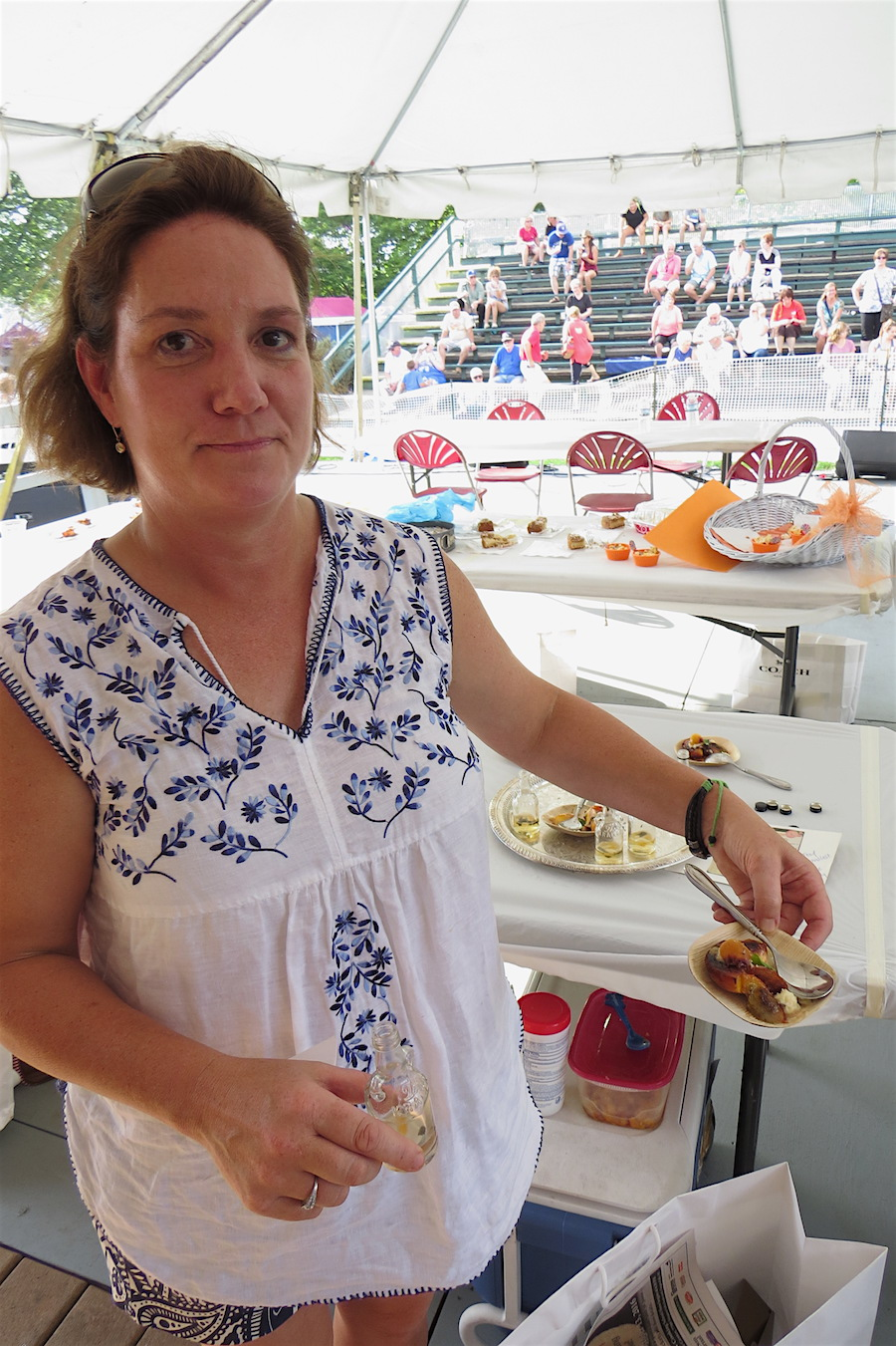 Diane Tubridy and her first-place dish.
