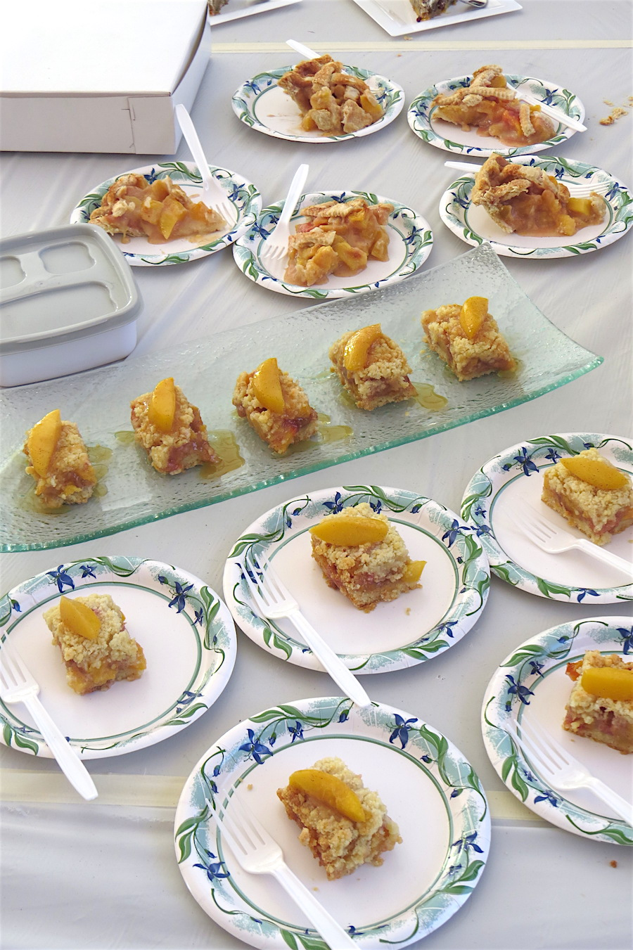A sampling of peach dishes.