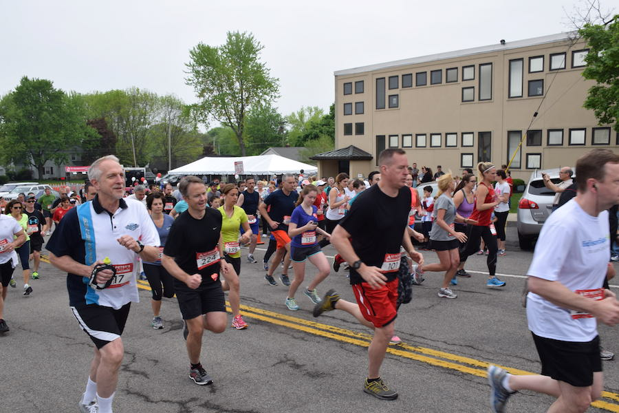 Shown are runners from the first St. Peter's 5K Run/Walk, which had over 200 participants.