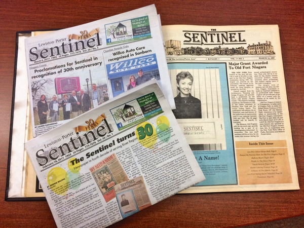 The Sentinel in 2017 and 1987.