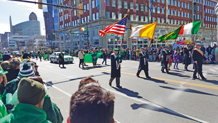 The parade in Buffalo