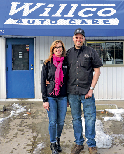 Jim Coble, owner of Willco Auto Care, with his wife, Denise.