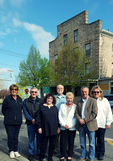 Shown from left, are Diane Melloni, Mark Butera, Quain Weber, Jerry Brett, Dotty Riordan, Steve Zastrow and Cheryl Butera.