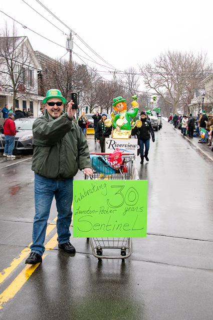 The Lewiston-Porter Sentinel was represented at the parade. (Photo by Wayne Peters)