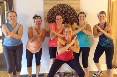 Ami Patrick with Tree of Life Yoga Studio participants in Niagara Falls.