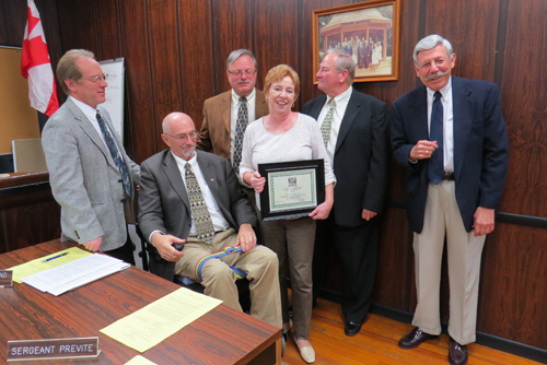 Village of Lewiston Clerk/Treasurer Anne Welch received a certification of appreciation Monday from the Village Board.