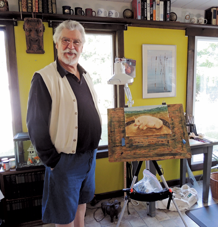 Local artist and actor L. Paul Thomas will lend his work to the Art Walk.