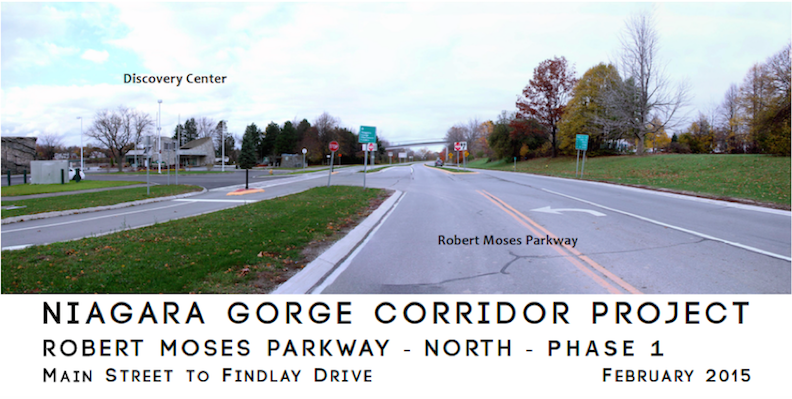 Pictured is the Robert Moses Parkway near the Discovery Center in Niagara Falls. Click for a larger image. (Photo courtesy of Parsons, USA Niagara)