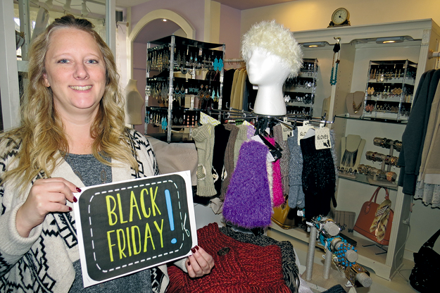 Angel to Apple owner Jamie Symmonds invites readers to spend Black Friday in Lewiston.