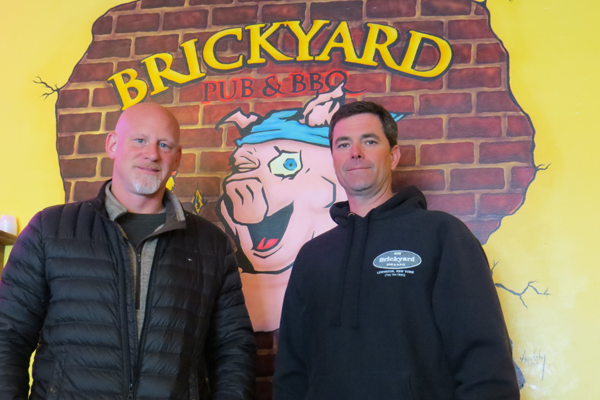 From left: The Brickyard Pub & B.B.Q. owners Eric Matthews and Ken Bryan.