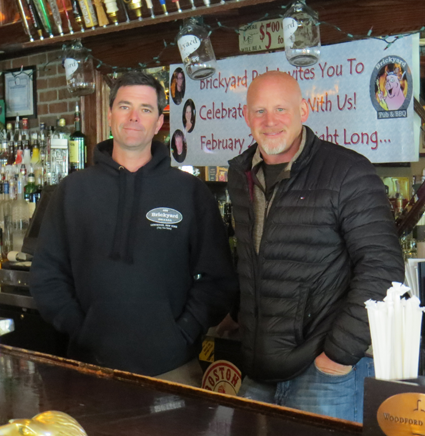 Pictured, from left, are The Brickyard Pub & B.B.Q. owners Ken Bryan and Eric Matthews.