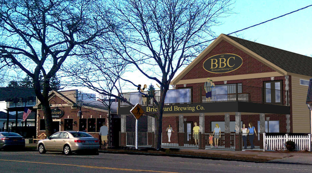 Brio Pizzeria is slated to become Brickyard Brewing Co. The signage shown is not necessarily the final look. This artist's rendering is courtesy of Jim Fittante/Fittante Architecture P.C.