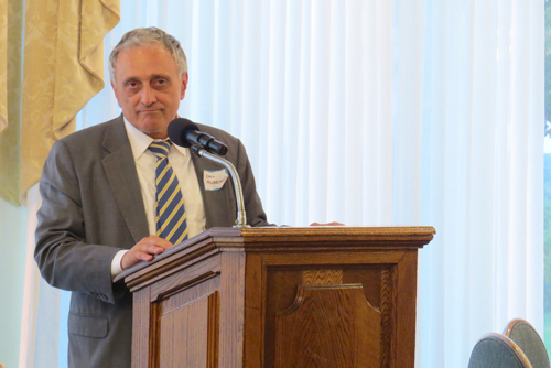 Carl Paladino addressed an audience of students, parents and local leaders Thursday in Lewiston. (photos by Joshua Maloni)