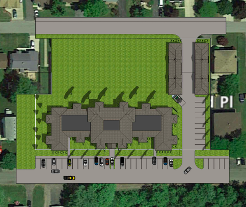 James Jerge's apartment complex is slated to be built in the Village of Lewiston.