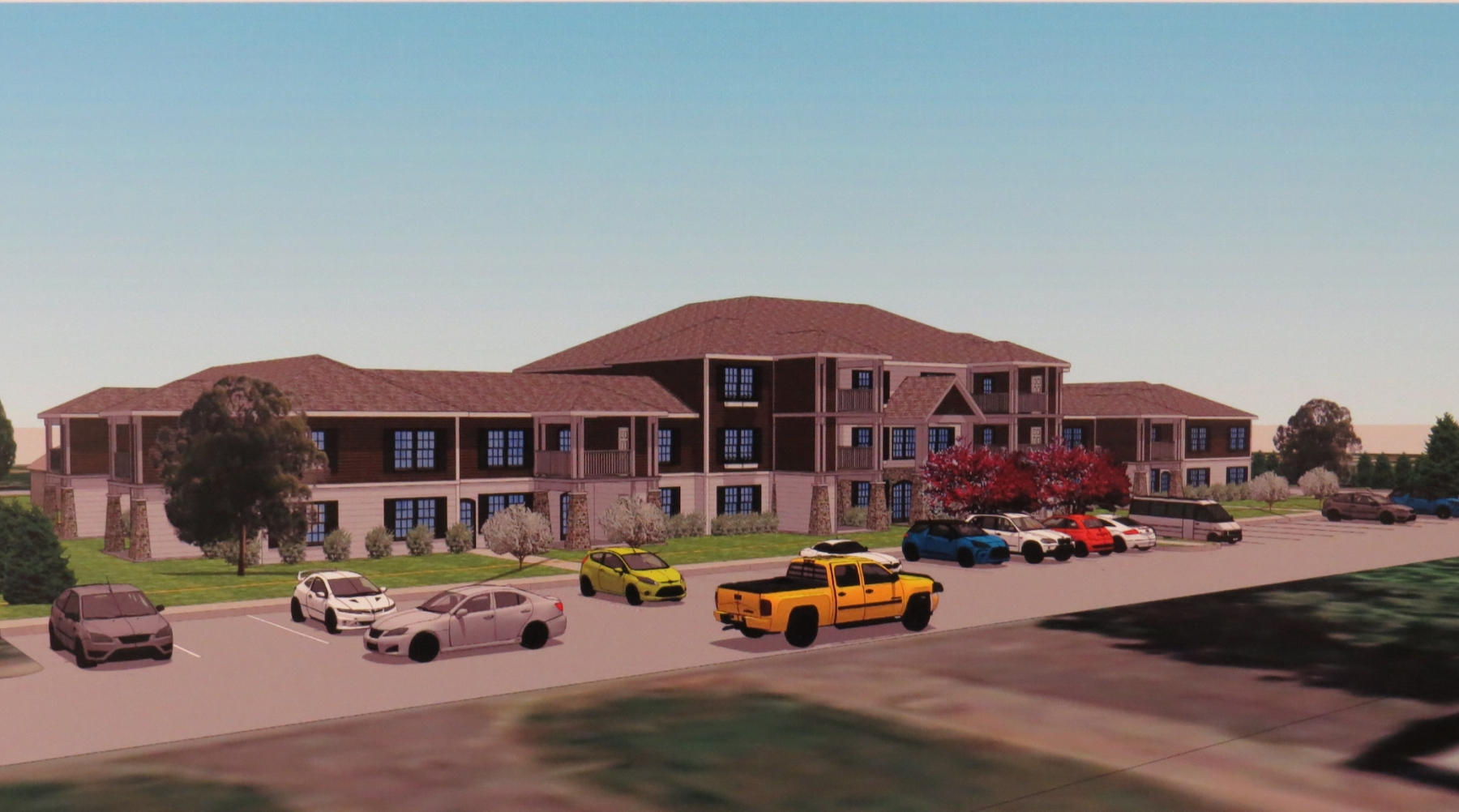 Pictured is Jimmy Jerge's vision for the former Fairchild Manor. This is an artist's rendering of the property at 765 Fairchild Place, as shown from the Onondaga Street side.