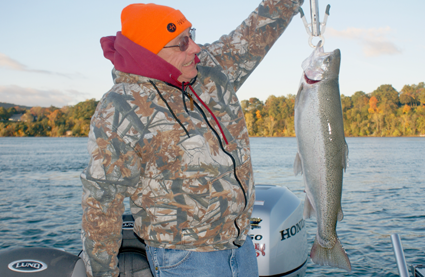 A steelhead from the Niagara River put up a fight unlike that of Great Lakes fish.