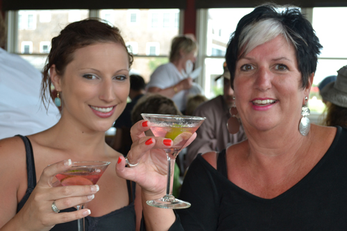 Limelight of WNY Director of Client Services Hannah Hays, left, and Limelight President Sandy Hays Mies toast the recent Lewiston Jazz Festival.