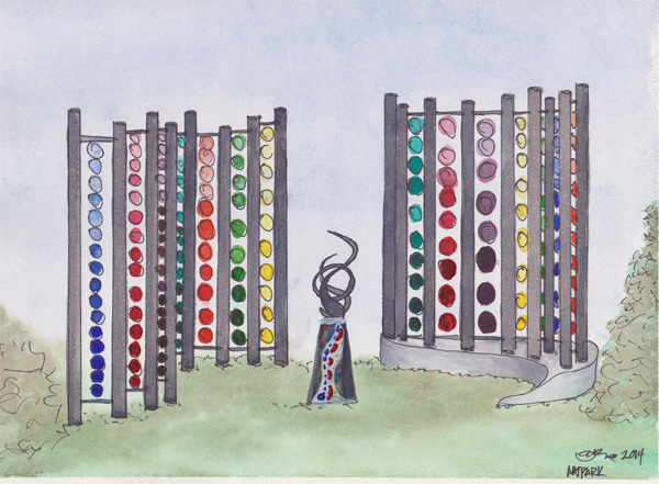 Pictured is a rendering of Karen Sirgey's installation to be completed by the end of August.