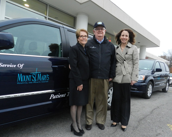 Pictured, from left, are Judith Maness James V. Glynn and Lynn W. Catalano.