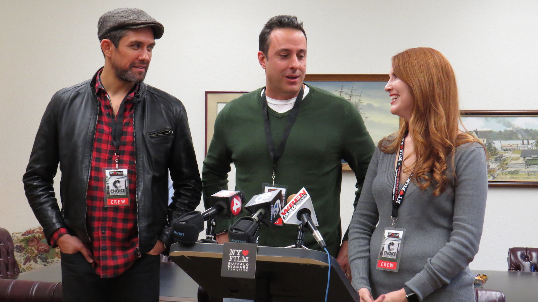 Pictured, from left, are `Morning Sun` actor Neal Bledsoe, director Tony Glazer and producer Summer Crockett Moore.