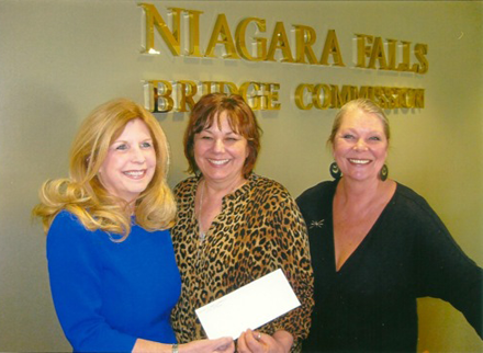 Pictured, from left, are Kathleen Neville (Niagara Falls Bridge Commission), Irene Rykaszewski (Lewiston Council on the Arts executive director) and Eva Nicklas (LCA artistic director).
