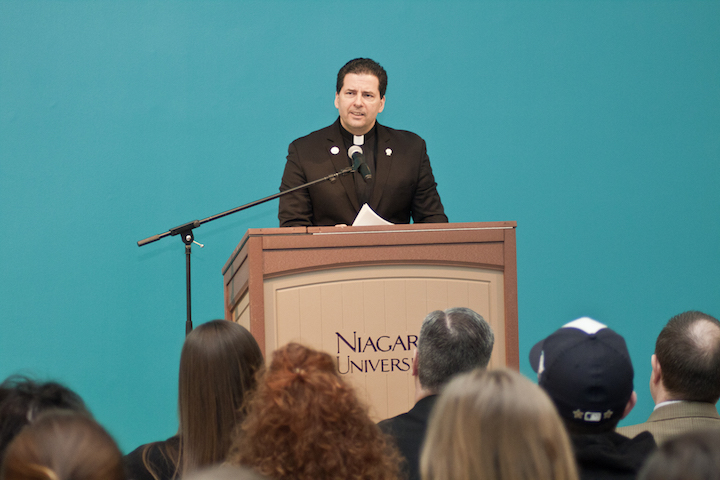 The Rev. James J. Maher, C.M, president of NU.