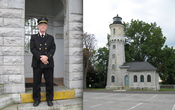 Terry Yonker at the entrance to the Old Fort Niagara lighthouse.