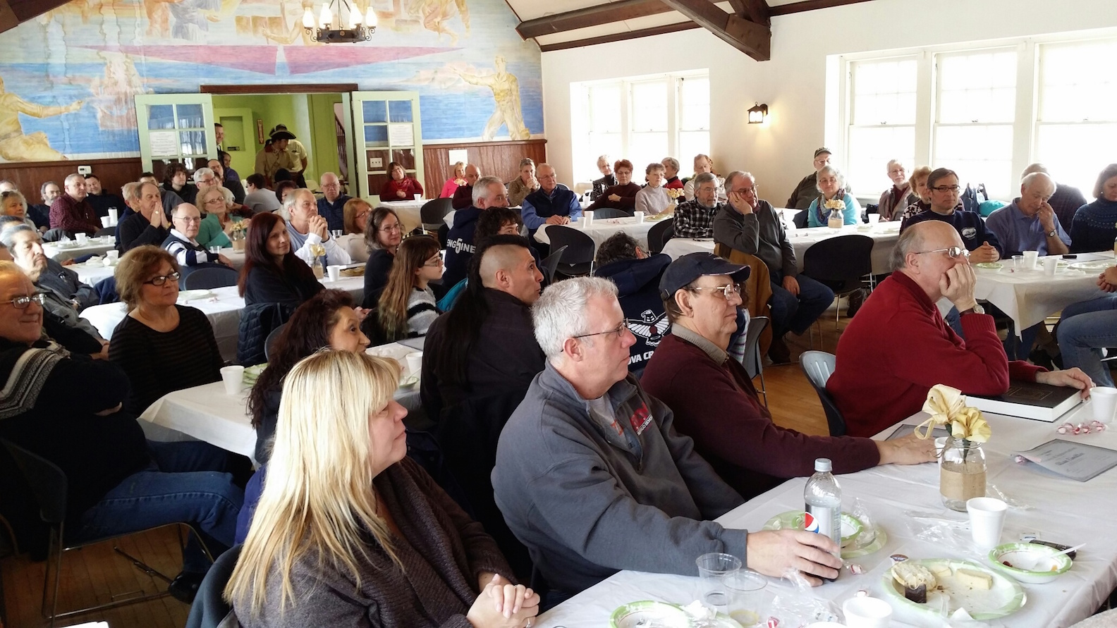 More than 80 volunteers attended Old Fort Niagara's recognition breakfast at the Officers Club.