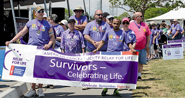 The American Cancer Society's Relay For Life of Greater Niagara was held last weekend at Reservoir State Park. Pictured at top is the leadoff of the Survivor's Walk.