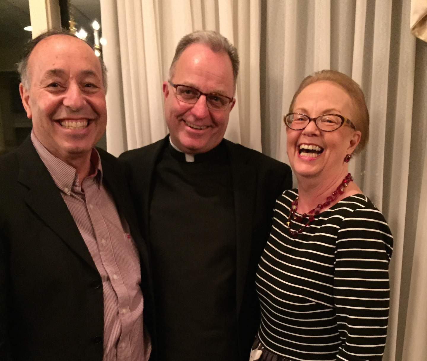 On April 16, St. Peter's R.C. School held its annual Grand Gala at the Niagara Falls Country Club. Pictured, the Rev. Monsignor David LiPuma is flanked by two of this year's honorees: Jerry (St. Peter's Class of 1958) and Maureen Castiglione of Lewiston. The couple was honored for its many years of faithful support of both the school and parish.