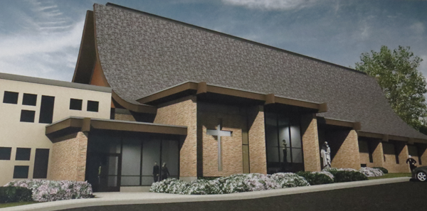 Pictured is an artist's rendering of the vestibule change coming to St. Peter's. (Photo by Trautman Associates)