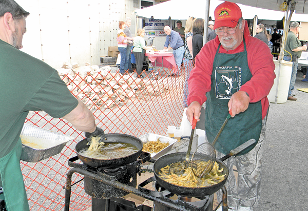 A scene from last year's Lewiston Smelt Festival on the village waterfront. (File photo)