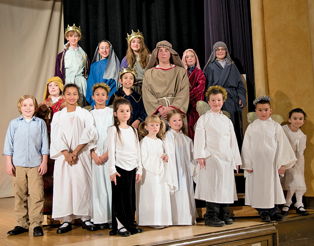 Shown are local youngsters who participated in last weekend's production of `The Best Christmas Pageant Ever,` this year's Theatre in the Mist holiday play at Stella Niagara. (Photo by Christopher Swagler; click to enlarge)