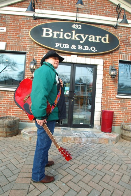 Pictured is Dale Campbell outside of The Brickyard.