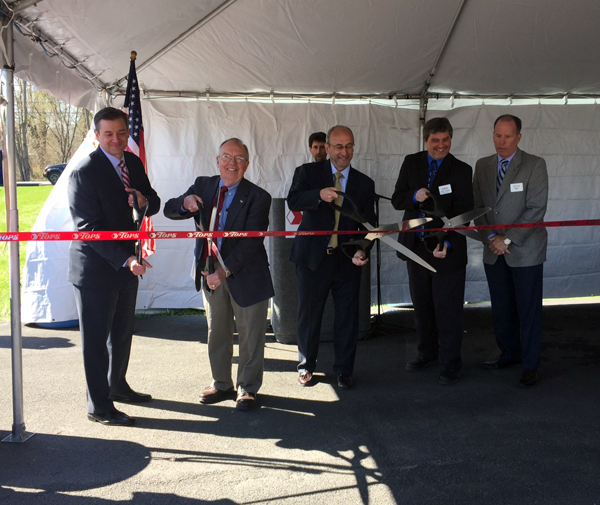 Pictured, from left, at the ribbon-cutting: John Persons, Tops president and chief operating officer; Wright Ellis, Town of Cambria supervisor; Frank Curci, Tops chairman and CEO; Sam Weber, Tops Sanborn store manager; and Mike Patti, Tops regional vice president.