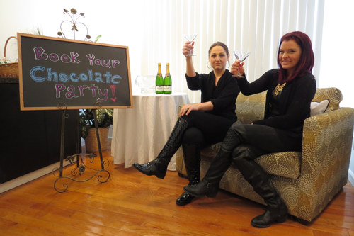 Tuscana Salon & Spa owner Jillian Zaccarella, left, and stylist Bridgit Sherman invite readers to book a chocolate party.