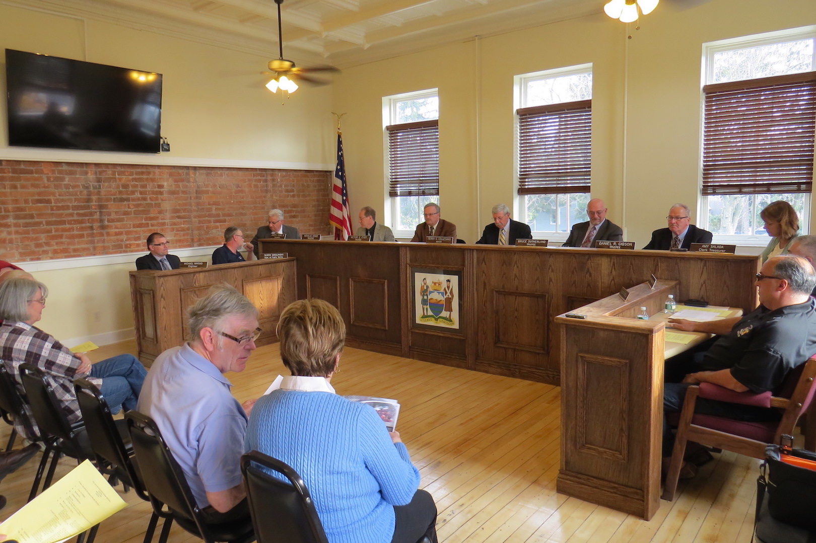 The Village of Lewiston Board of Trustees met Monday inside a new boardroom.
