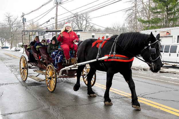Horse-drawn carriages will again be part of Christmas in the Village.