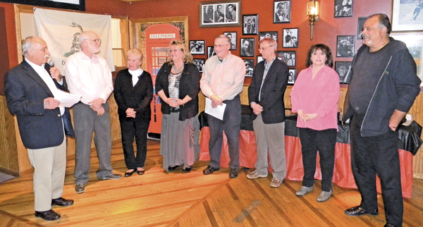 Niagara County legislator Clyde Burmaster conducted swearing-in ceremonies for the YBPA board of directors. (Photo by Terry Duffy)