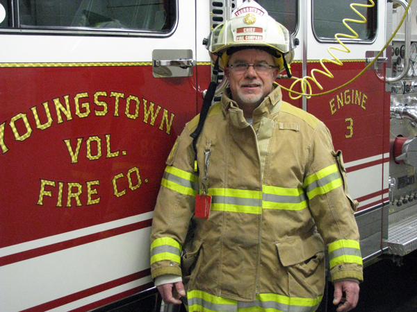 Youngstown Volunteer Fire Co. Chief Scott Muller